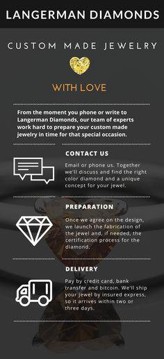 Choose your color diamond, let us know your distinct style, we'll make a unique diamond jewelry for you.