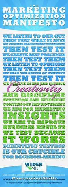 Marketing Optimization Manifesto