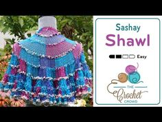 Crochet A Sashay Shawl in about 4 hours. Learn the ins and outs of crocheting a shawl using Red Heart Sashay.