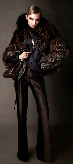 Tom Ford, I have emotional feelings about your black coffee pants and medieval diva fur coats