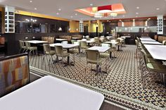 Dining area mayor focal point the art work with tiles. @ Original Pancake House