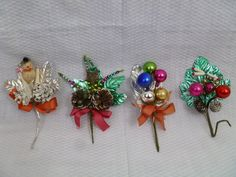 Vintage 1960's Holiday Christmas Corsage Collection.