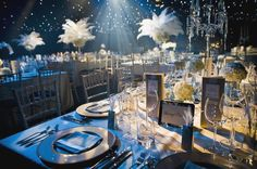 1920 Party Decorations 192039s Themed Gala Dinner Anyone E V E N T S Inspiration swan
