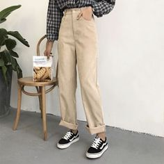 Beige Look From Zara Fashion Beige corduroy pants Zara Fashion Mode, Look Fashion, Korean Fashion, Fashion Outfits, Zara Fashion, Lolita Fashion, Fashion Boots, Latest Fashion, Womens Fashion