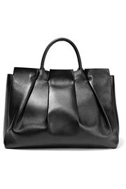 Peggy gathered leather tote