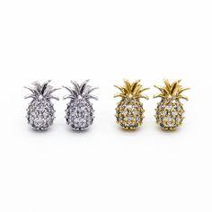 Pineapple stone earrings
