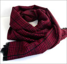 Red/Black Cashmere man scarf/wrap Écharpe Homme Luxe Man Scarf, Red Black, Scarf Wrap, Cashmere, Scarves, Winter, Fashion, Scarfs, Winter Time