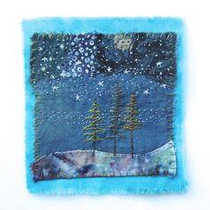 Image of Tree Dreamings Sashiko Embroidery, Hand Embroidery Stitches, Embroidery Applique, Embroidery Patterns, Textile Fiber Art, Textile Artists, Boro, Fabric Art, Fabric Crafts