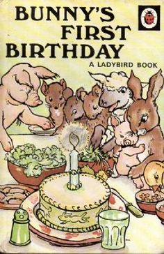 BUNNY'S FIRST BIRTHDAY Vintage Ladybird Book Animal Rhymes £5.95