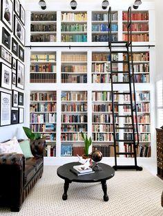 Home Library Rooms, Home Library Design, Home Libraries, Dream Home Design, House Rooms, My Dream Home, Dream Library, Bookshelf Inspiration, Bookshelf Organization