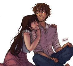 Admit it, kid. You kinda like having her around. | Oreki and Chitanda | by Burdge | Hyouka | Anime