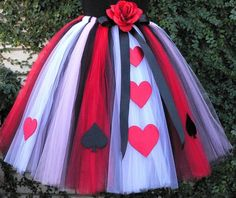 "Queen of Hearts - Adult Teen Pre-teen Costume Tutu - Custom Sewn Tutu - Up to 36 ""long - Not Available for Delivery before Halloween 2018 - Make Easy Diy Halloween 2018, Costume Halloween, Costume Carnaval, Theme Halloween, Halloween Costumes For Teens, Halloween Make, Holidays Halloween, Teen Costumes, Grease Costumes"