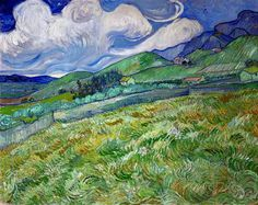 Vincent van Gogh - Berglandschaft hinter dem Hospital Saint-Paul, 1889