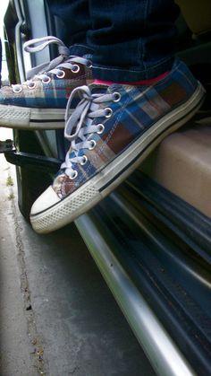 Plaid converse shoes where did i go wrong? by thepurplellama22.deviantart.com