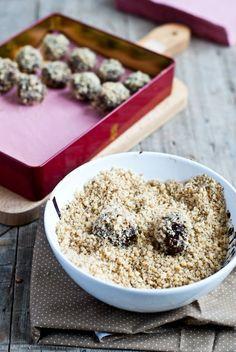 Ořechové truffles se slanou čokoládou a ořechy, Foto: Sweet pixel blog