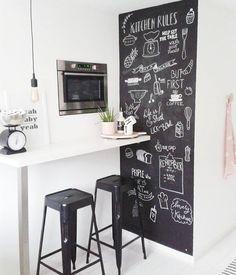 Chalkboard Pictures, Chalkboard Ideas, Kitchen Chalkboard, Chalkboard  Walls, Kitchen Small, Kitchen Stuff, Kitchen Dining, Kitchen Ideas, ...