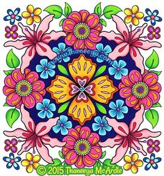 Flower Mandala Mandala Coloring And Coloring Books On