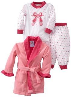 Baby Bunz Baby-girls Infant LG 3 Piece Ballet Robe and Pajama Set for only $13.60