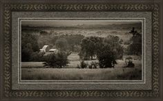 Black And White Print featuring the photograph Arikaree Farmstead by Jeff…