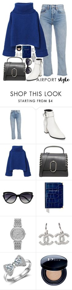 """airport style♡"" by polinachaban ❤ liked on Polyvore featuring Steve Madden, MANGO, 3.1 Phillip Lim, La Perla, Aspinal of London, Michael Kors, Christian Dior and airportstyle"