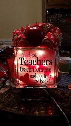 Embellished Glass Blocks Teachers                              …