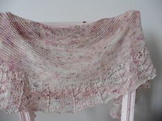 Tulle Shawl, part of curious handmade's  knitvent2017 collection by Helen Stewart