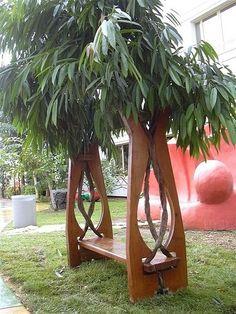 Идеи деревянных скамеек для дачи   Мой Милый Дом — идеи рукоделия, вязание, декорирование интерьеров