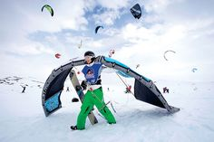 Snow-kiting looks fun.