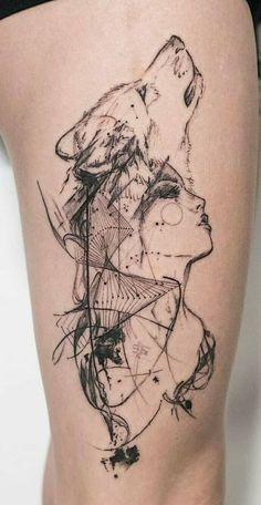 cool wolf tattoo designs © tattoo artist Through . cool wolf tattoo designs © tattoo artist Through My Third Eye 💓💓💓 Pretty Skull Tattoos, Lace Skull Tattoo, Beautiful Tattoos, Black Tattoos, Beautiful Beautiful, Wolf Tattoo Design, Tattoo Designs, Henna Designs, Tattoos Motive