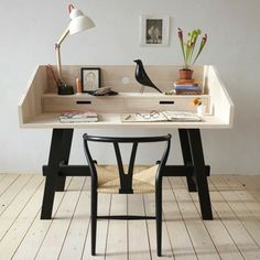 Even though this desk is not a recycling project, it could be . . . pallets, old wood/ drawers? Looks simple enough to build.