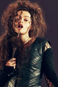 Bellatrix Lestrange ~ Helena Bonham  What a badass!