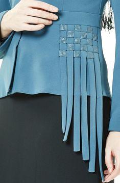 Kayra Takım-Petrol Siyah - Best Sewing Tips Fashion Sewing, Diy Fashion, Fashion Outfits, Origami Fashion, Unique Fashion, Designer Dresses, Designer Kurtis, Diy Clothes, Clothes For Women