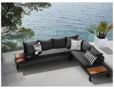 Outdoor Couch, Outdoor Seating, Outdoor Rooms, Outdoor Living, Outdoor Decor, Outdoor Lounge Sets, Patio Lounge Furniture, Modern Outdoor Furniture, Modern Patio