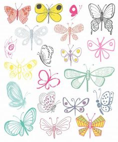 20 ways draw butterfly