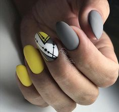 30 Simple Nail Designs Manicure Nails Nail Педикюр, Nail De … - Most Trending Nail Art Designs in 2018 Simple Nail Art Designs, Cute Nail Designs, Easy Nail Art, Oval Nails, My Nails, Long Round Nails, Nail Manicure, Nail Polish, Round Shaped Nails