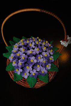 Kwiaty, szydełko