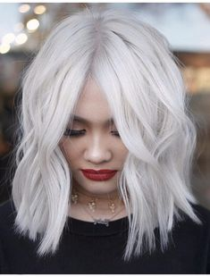60 Stunning Platinum Hair Color Inspirations for Platinum blonde hair color ideas are highly-coveted shades. The fact of being very uncommon makes these platinum blonde hair color is so popular among. Platinum Blonde Hair Color, White Blonde Hair, Blond Ombre, Blonde Color, Blonde Balayage, Hair Color Shades, Red Hair Color, Cool Hair Color, Hair Colors