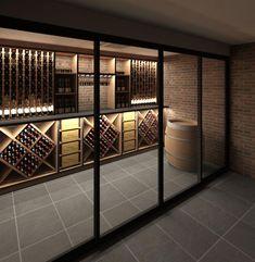 Wine Racks & Storage for your wine collections.- Wine Racks & Storage for your wine collections. Grassl Wine Glassware on www.cjf… Wine Racks & Storage for your wine collections. Grassl Wine Glassware on www. Cave A Vin Design, Bodega Bar, Spiral Wine Cellar, Zigarren Lounges, Wine Cellar Basement, Wine Rack Storage, Wine Racks, Home Wine Cellars, Wine Cellar Design