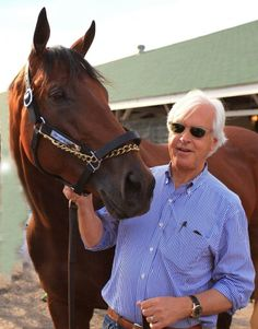American Pharoah and Trainer Bob Baffert 2015