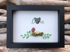 Sea Glass Art, Driftwood Art, Home Decor, Nova Scotia, Maritimes, Family, Birds Nest