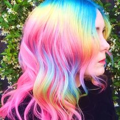 23 Visually Stimulating Cotton Candy Hair Color Ideas #color #cottoncandy #hair #ideas #pastel