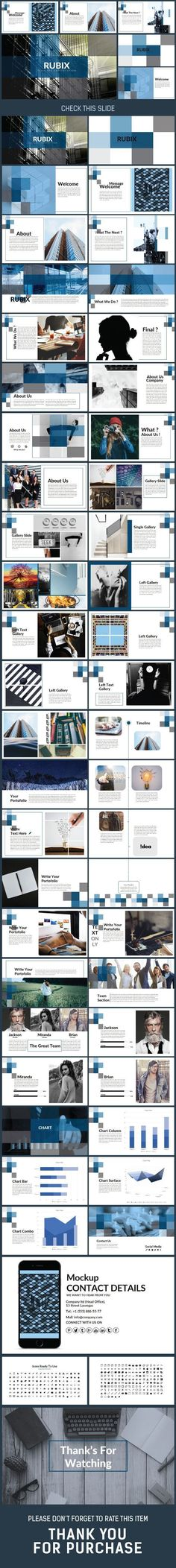 Business infographic : Business infographic : RUBIX Presentation Power Point Template Creative PowerPo
