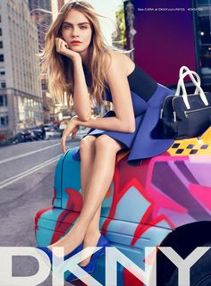 dkny spring 2014 campaign 2 Cara Delevingne, Jourdan Dunn + Eliza Cummings for DKNY Spring 2014 Ads