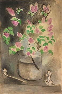 Henri Matisse, Lilacs, 1914, oil on canvas, 57 1/2 x 38 inches