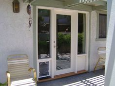 french doors with pet door - Google Search