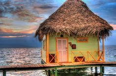 punta caracol, panama...it's the thatched roof... ;)
