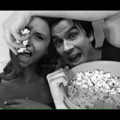 #TVD The Vampire Diaries   Nina Dobrev(Elena,Katherine,Amara etc..) & Ian Somerhalder(Damon)