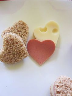 heart sandwiches...cute for snack after school