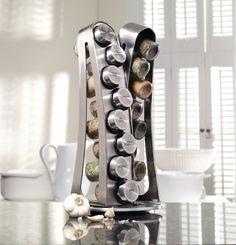 Kamenstein 16-jar Stainless Steel Tower Spice Rack