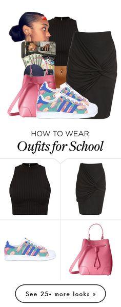"""School Tomorrow"" by shamyadanyel on Polyvore featuring Jane Norman, Furla and adidas Originals"